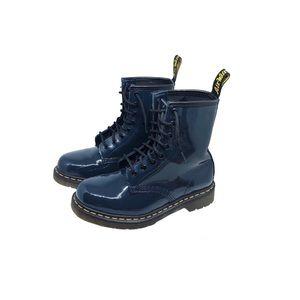 Dr. Martens 1460 Navy Patent Lamper Combat Boots
